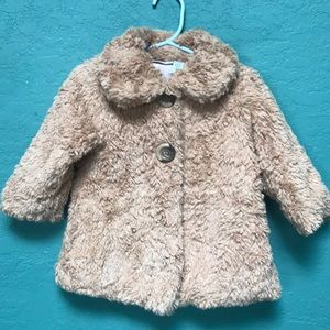 Cute Teddy Coat with Pink Lining!!